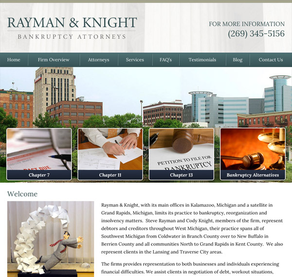 Mobile Friendly Law Firm Webiste for Rayman & Knight