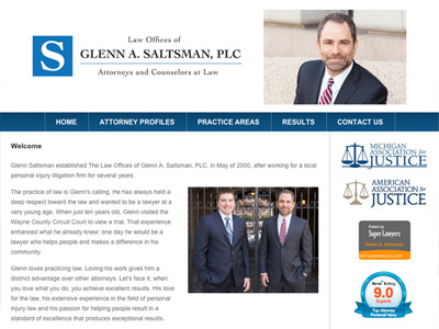 Law Firm Website design for Law Offices of Glenn A. S…