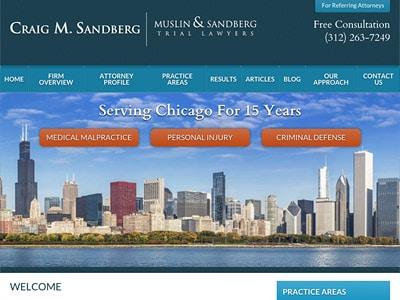 Law Firm Website design for Craig M. Sandberg - Musli…