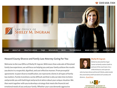 Website Design for Law Office of Shelly M. I…