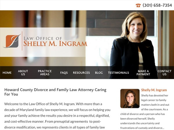 Mobile Friendly Law Firm Webiste for Law Office of Shelly M. Ingram, LLC
