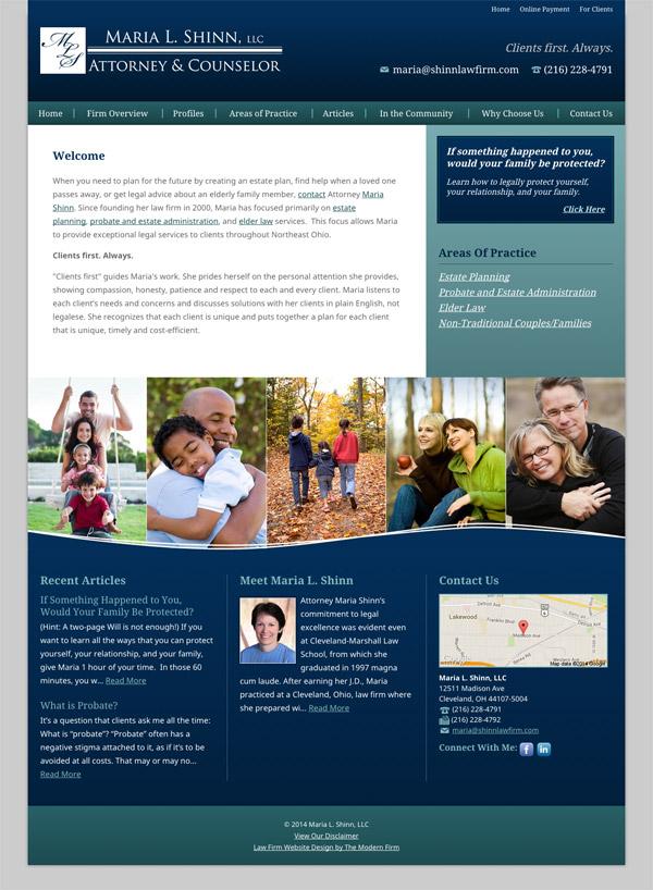 Law Firm Website Design for Maria L. Shinn, LLC