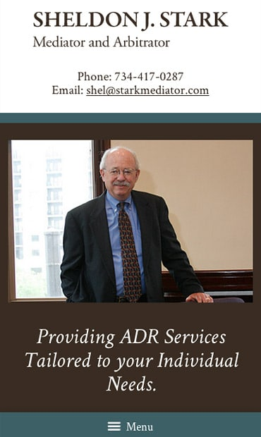 Responsive Mobile Attorney Website for Sheldon J. Stark - Mediator