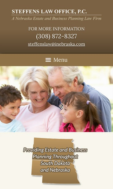 Responsive Mobile Attorney Website for Steffens Law Office, P.C.