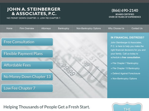 Mobile Friendly Law Firm Webiste for John A. Steinberger & Associates