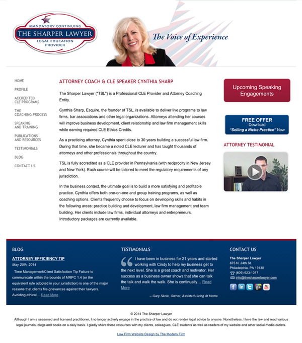 Law Firm Website Design for The Sharper Lawyer