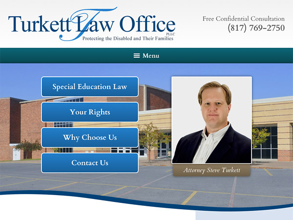 Mobile Friendly Law Firm Webiste for Turkett Law Office, PLLC