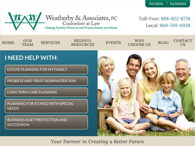 Law Firm Website design for Weatherby & Associates, P…
