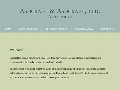 Law Firm Website design for Ashcraft & Ashcraft, Ltd.