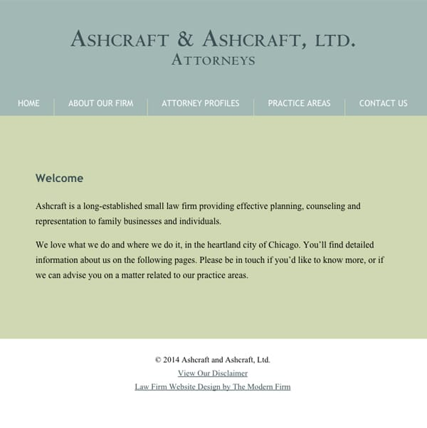 Law Firm Website Design for Ashcraft & Ashcraft, Ltd.