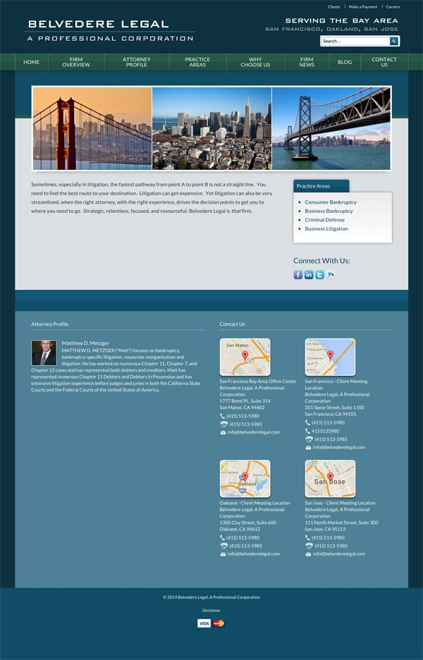 Law Firm Website Design for Belvedere Legal, A Professional Corporation