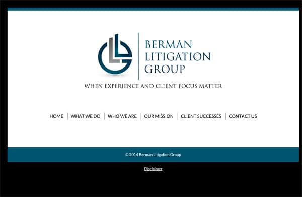 Law Firm Website Design for Berman Litigation Group