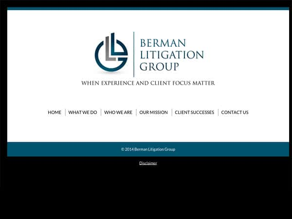 Mobile Friendly Law Firm Webiste for Berman Litigation Group