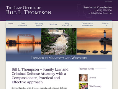 Law Firm Website design for The Law Office of Bill L.…