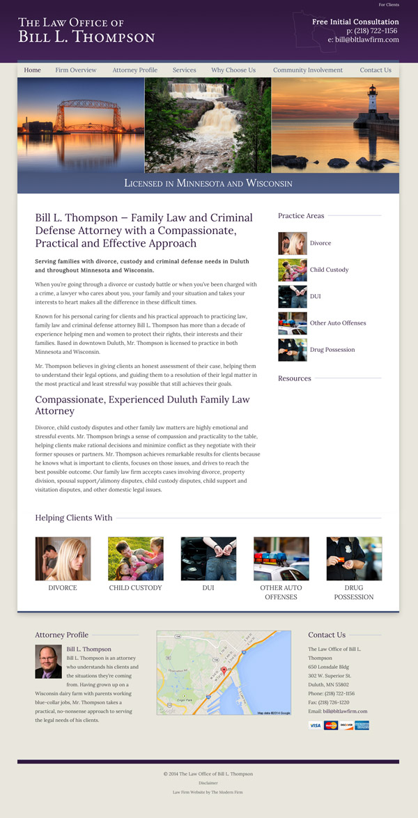 Law Firm Website Design for The Law Office of Bill L. Thompson