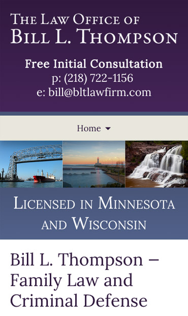 Responsive Mobile Attorney Website for The Law Office of Bill L. Thompson