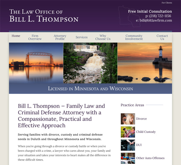 Mobile Friendly Law Firm Webiste for The Law Office of Bill L. Thompson