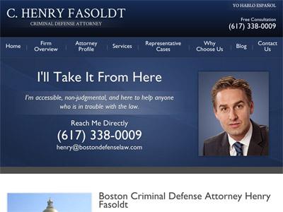 Law Firm Website design for C. Henry Fasoldt, Attorne…