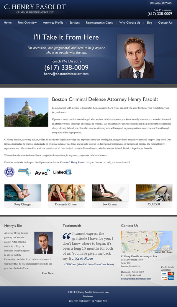 Law Firm Website for C. Henry Fasoldt, Attorney at Law