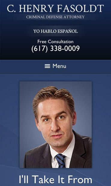 Responsive Mobile Attorney Website for C. Henry Fasoldt, Attorney at Law
