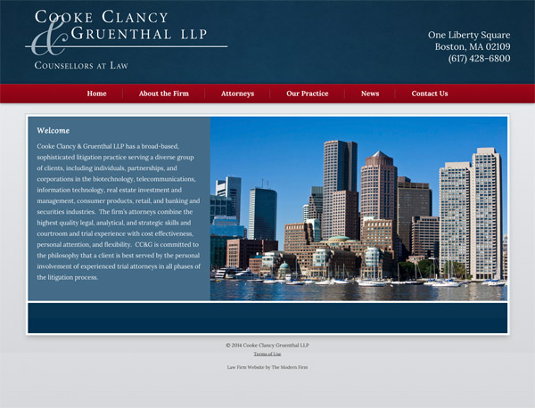 Law Firm Website Design for Cooke Clancy & Gruenthal, LLP