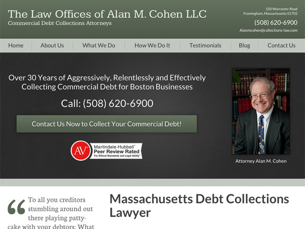Mobile Friendly Law Firm Webiste for The Law Offices of Alan M. Cohen, LLC
