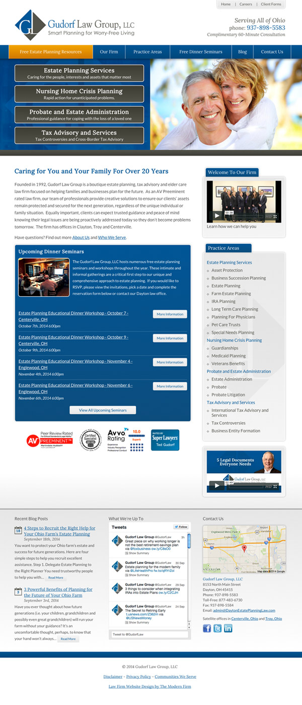 Law Firm Website Design for Gudorf Law Group, LLC