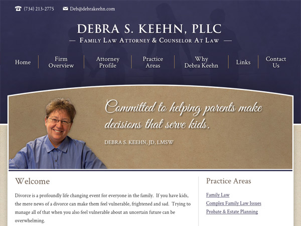Mobile Friendly Law Firm Webiste for Debra S. Keehn, PLLC