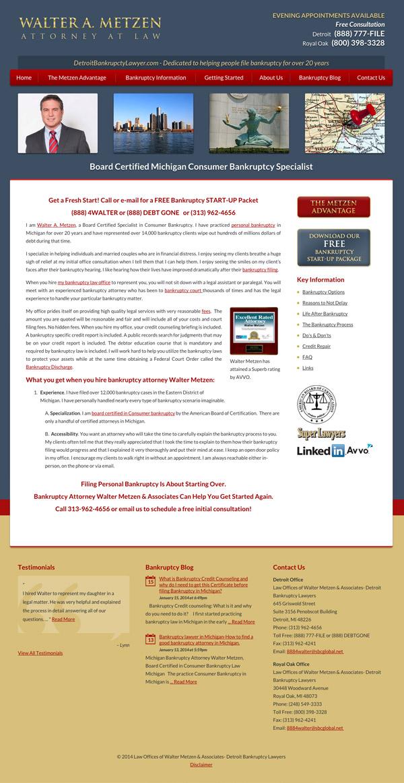 Law Firm Website Design for Law Offices of Walter Metzen & Associates