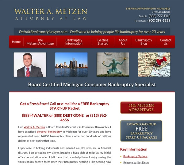 Mobile Friendly Law Firm Webiste for Law Offices of Walter Metzen & Associates