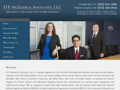 Law Firm Website design for D.F. McGuire & Associates…