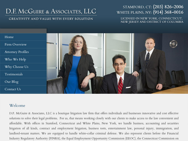 Mobile Friendly Law Firm Webiste for D.F. McGuire & Associates, LLC