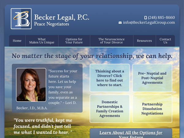 Mobile Friendly Law Firm Webiste for Becker Legal, P.C.