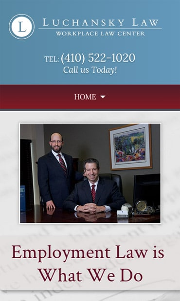 Responsive Mobile Attorney Website for Luchansky Law