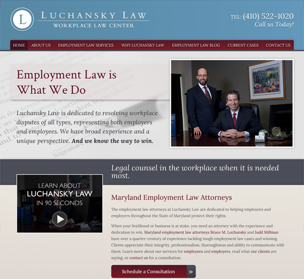 Mobile Friendly Law Firm Webiste for Luchansky Law