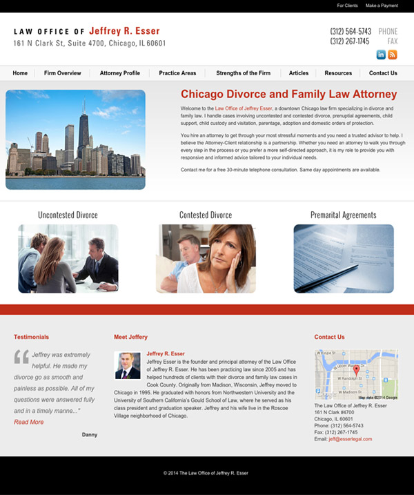 Chicago IL Divorce & Family Law Web Design by The Modern Firm