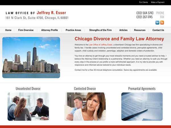 Mobile Friendly Law Firm Webiste for Law Office of Jeffrey R. Esser