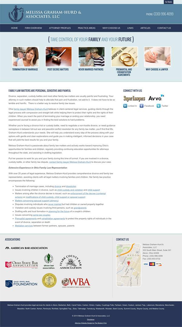 Law Firm Website Design for Melissa Graham-Hurd & Associates, LLC