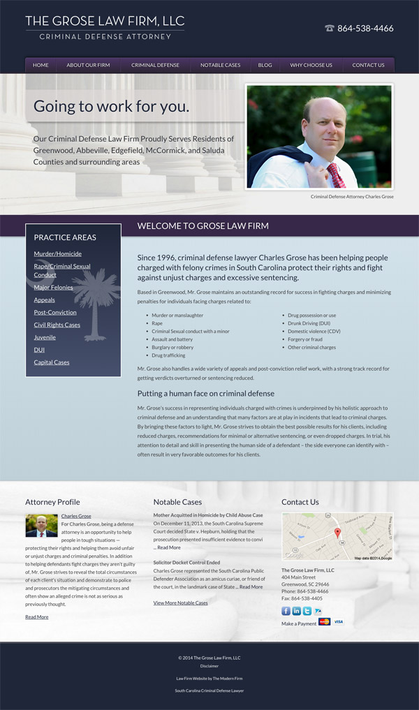 Law Firm Website for The Grose Law Firm, LLC