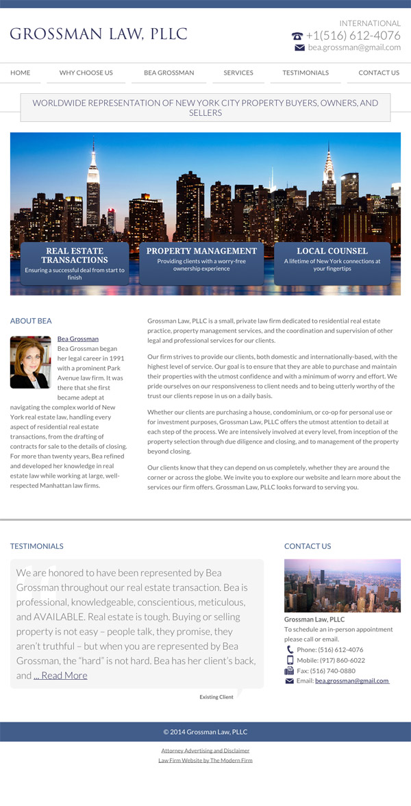 Law Firm Website Design for Grossman Law, PLLC