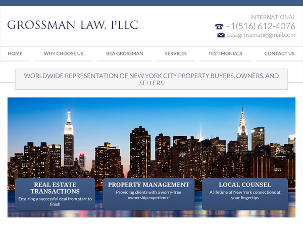 Mobile Friendly Law Firm Webiste for Grossman Law, PLLC