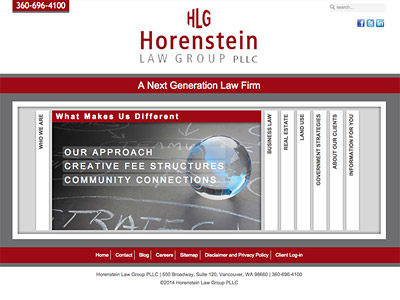 Law Firm Website design for Horenstein Law Group, PLL…