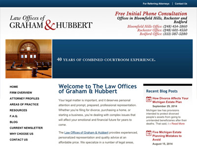 Law Firm Website design for Law Offices of Graham & H…