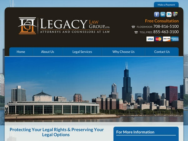 Mobile Friendly Law Firm Webiste for Legacy Law Group, Ltd.