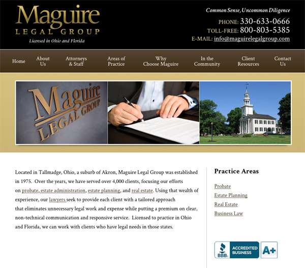 Mobile Friendly Law Firm Webiste for Maguire Legal Group