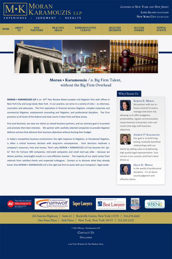 New York Law Firm Website by The Modern Firm