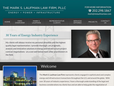Website Design for The Mark S. Laufman Law F…