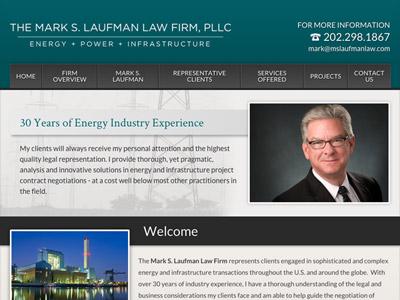 Website Design for The Mark S. Laufman Law F…