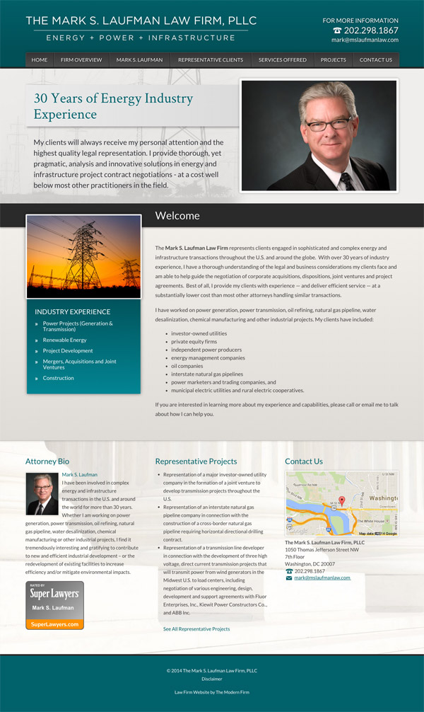 Law Firm Website Design for The Mark S. Laufman Law Firm, PLLC
