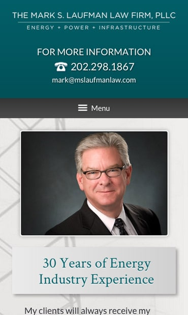 Responsive Mobile Attorney Website for The Mark S. Laufman Law Firm, PLLC